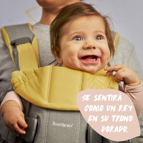 MOCHILA ONE EDICIÓN ESPECIAL BABY POWER-GRIS AMARILLO COTTON MIX