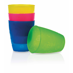 SET 4 VASOS COLORES 300ML 12M+