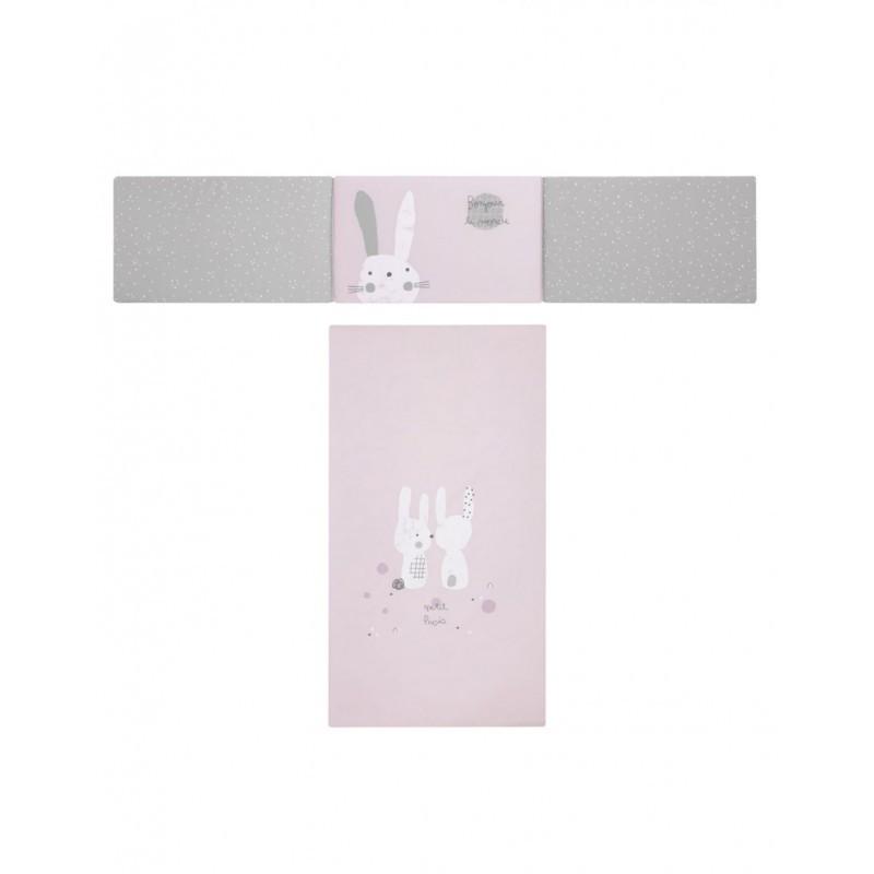 Colcha + protector snoops rosa petit...