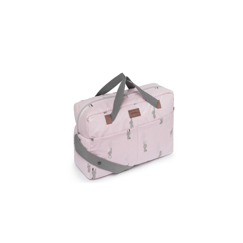 Bolso maternal snoops rosa petit praia
