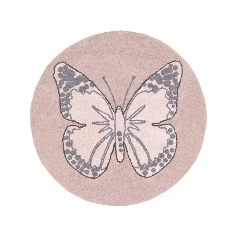 Alfombra butterfly vintage nude...