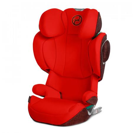 Silla de coche cybex solution z i-fix con normativa isize en color autumn gold, rojo
