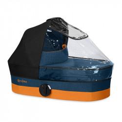 Burbuja anti lluvia para el capazo Cot S de la marca Cybex en color transparente.