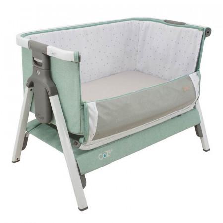 Cuna CoZee Bedside Crib de Tutti Bambini en el color white and ocean