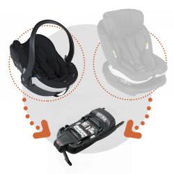 Silla coche izi go modular x1 i size con base isofix x1 besafe en el color fresh black cab