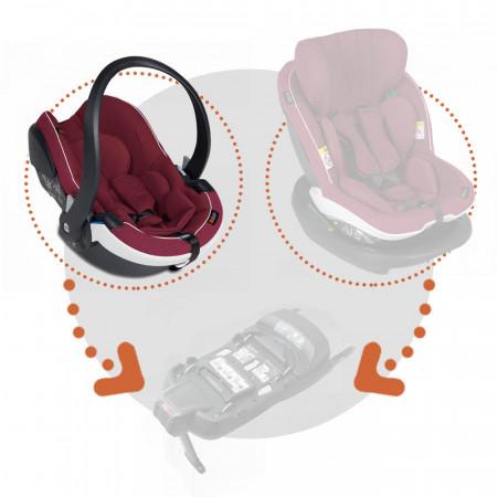 Silla auto izi go modular x 1 i size besafe en el color burgundy melange