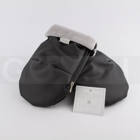 Uzturre Manoplas polipiel exterior negro interior gris