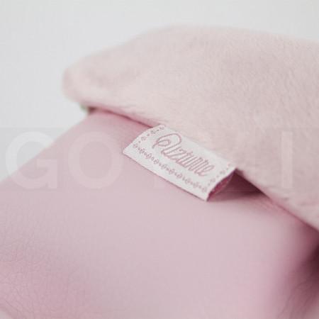 Uzturre Manoplas polipiel exterior rosa empolvado interior rosa empolvado
