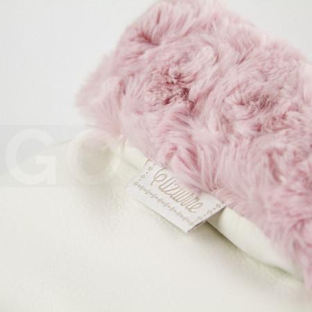 Uzturre Manoplas polipiel exterior beige interior rosa pelo rizado
