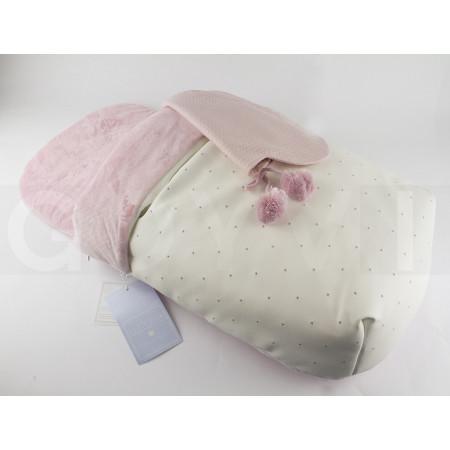 Uzturre Terese Saco capazo 2 usos en color rosa
