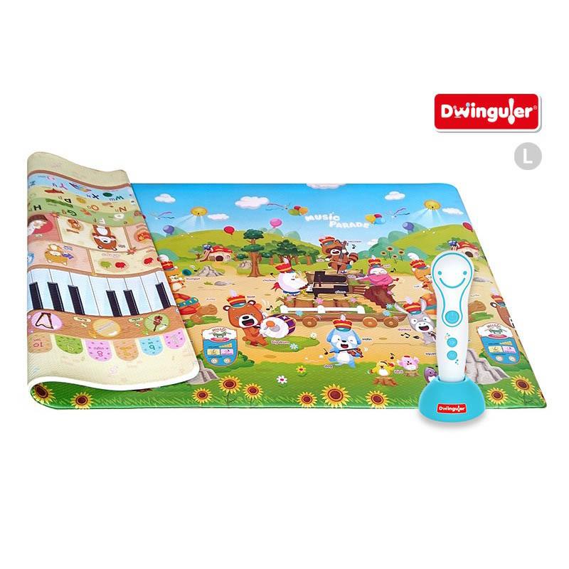 alfombra para juegos musical sound music parade de la marca dwinguler. Alfrombra reversible con talking pen.