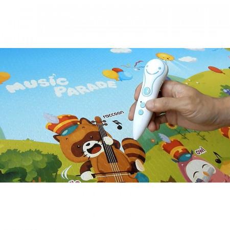 alfombra para juegos musical sound music parade de la marca dwinguler. El talking pen ayuda a aprender de manera interactiva.