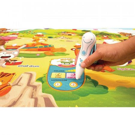 alfombra para juegos musical sound music parade de la marca dwinguler. Disponible en dos idiomas al mismo tiempo.