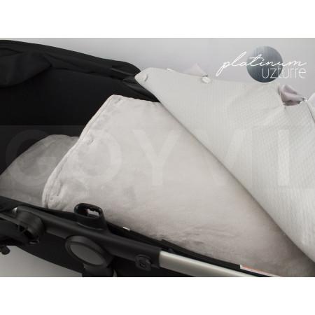 Saco para capazo con colcha PBP de Uzturre edición Platinum en color gris