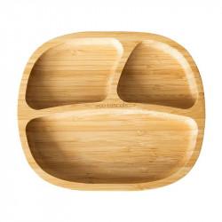 Plato con ventosa de bambú de Eco Rascals