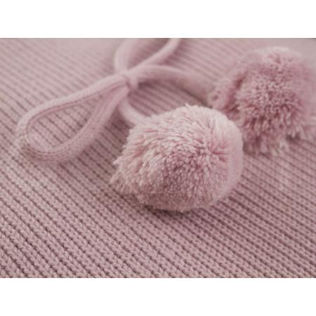 Saco de 2 usos para capazo de la colección Caterina de Uzturre en color rosa empolvado. Detalle pompom