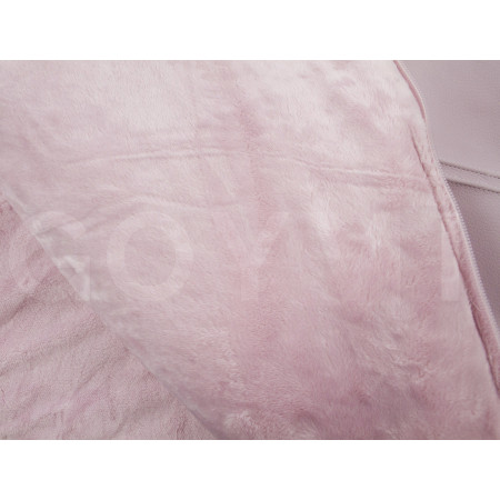 Saco de 2 usos para capazo colección Paola de Uzturre en color rosa empolvado. Detalle interior.