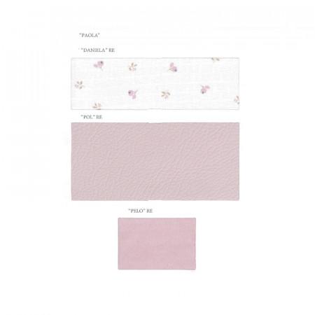 Saco para capazo colección Paola de Uzturre en color rosa empolvado