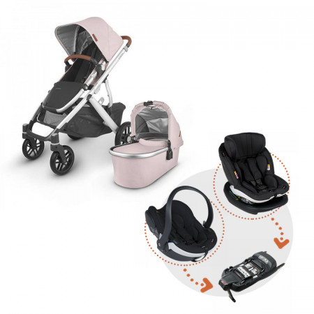 Uppababy Vista V2 en color Alice con sistema Modular de BeSafe en color Black