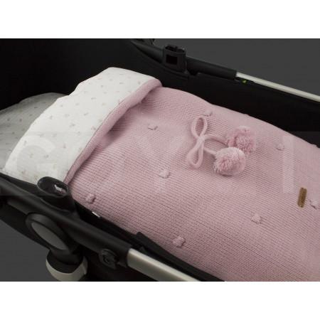 saco para capazo Caterina de uzturre en color rosa