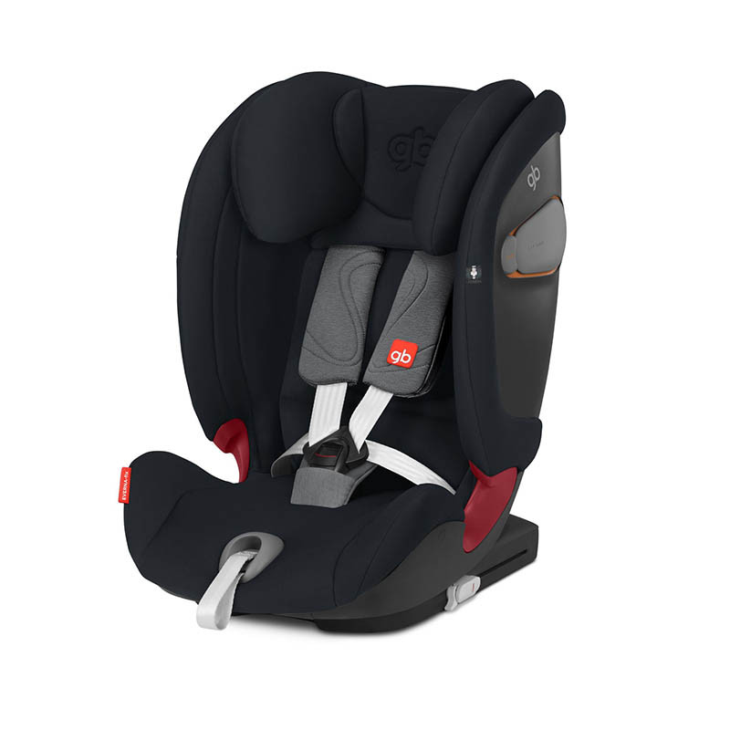 Silla de coche Everna Fix de GB en el color Velvet black