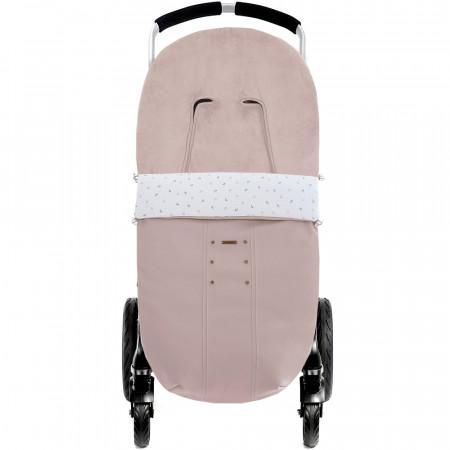 Saco para silla de invierno Paola de Uzturre en color rosa empolvado con interior de pelo