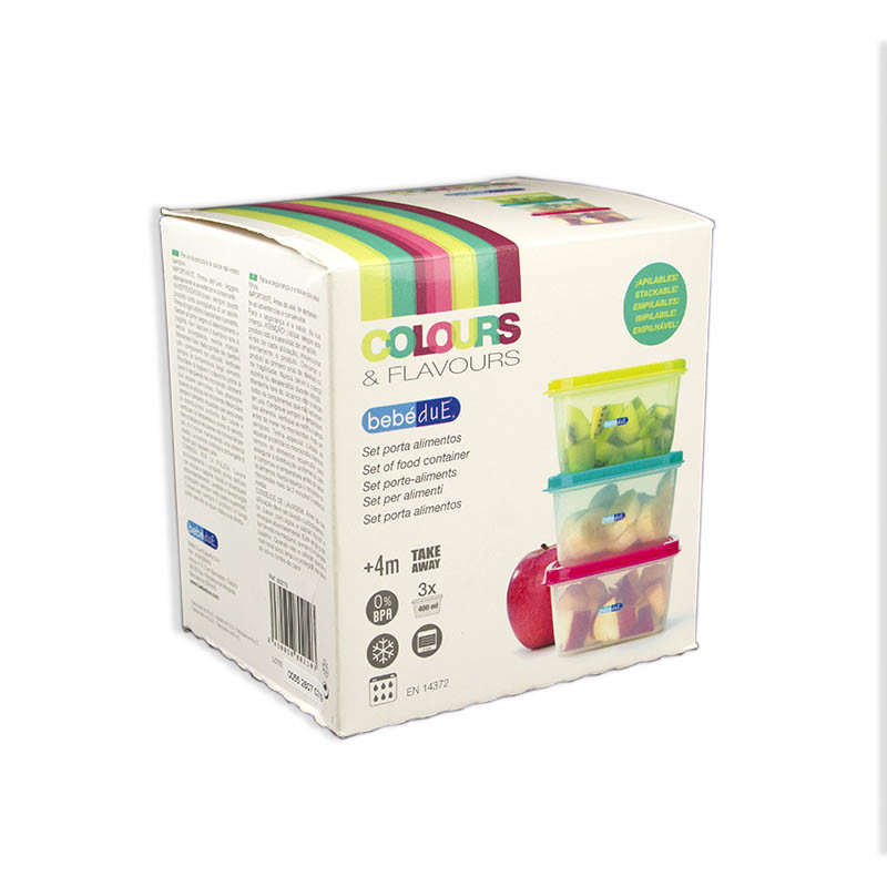 Set porta alimentos termaline de bebedue