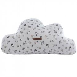 Cojín decorativo en forma de nube con estampado julieta de uzturre en color gris