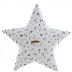 Cojín decorativo en forma de estrella de la colección Julieta de Uzturre en el color gris