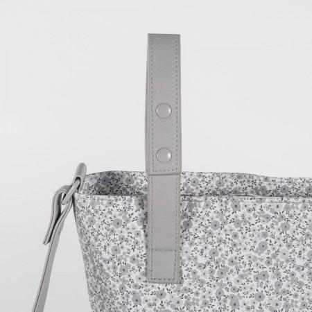 Bolsa panera flower mellow de pasito a pasito en el color gris