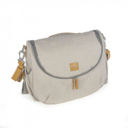 Bolsa canastilla baby nature de walking mum en el color sand