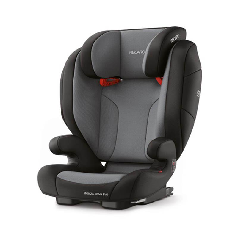 silla de coche monza nova evo seatfix de recaro en el color carbon black