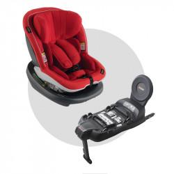 silla de coche izi modular i-size con base isofix de besafe en el color sunset red melange