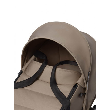 bassinet color taupe chasis blanco babyzen