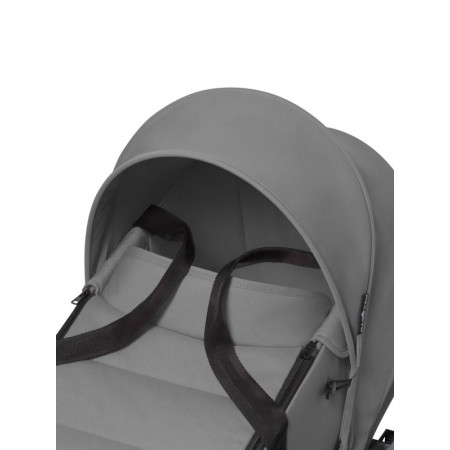 yoyo2 cochecito bassinet color grey chasis blanco