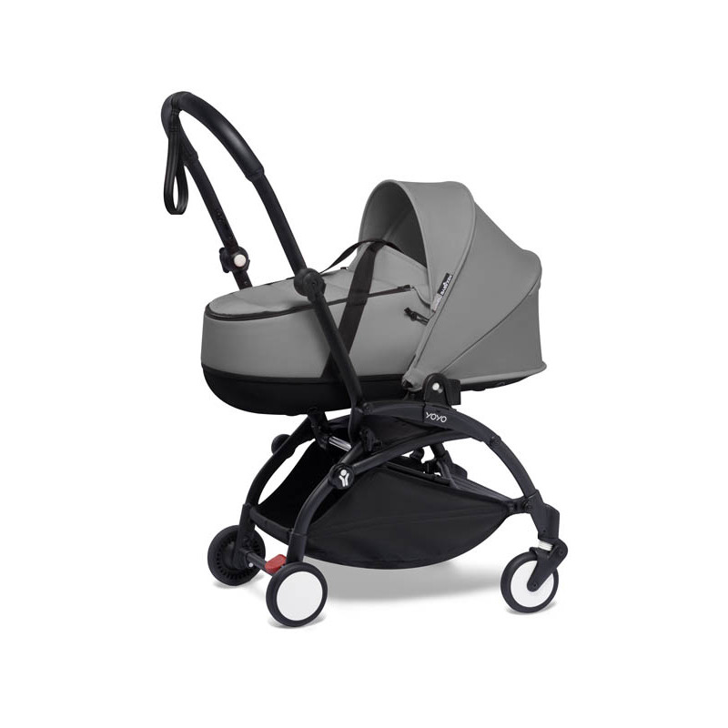 yoyo2 cochecito bassinet color grey chasis negro