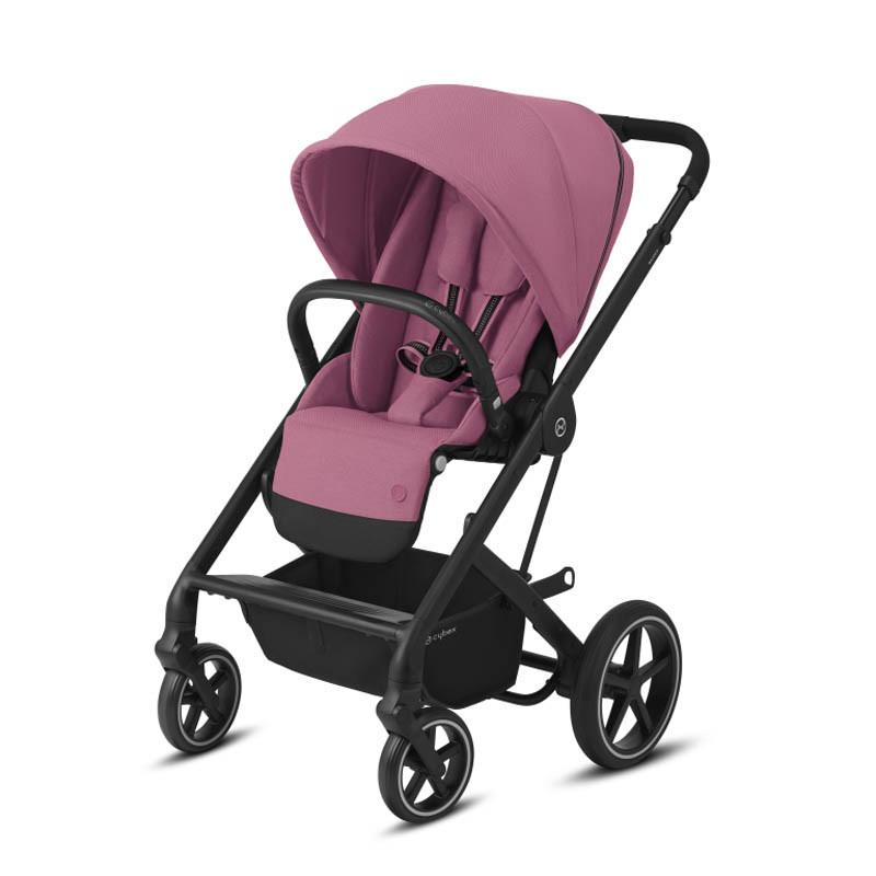 silla balios s lux de cybex chasis negro color magnolia pink