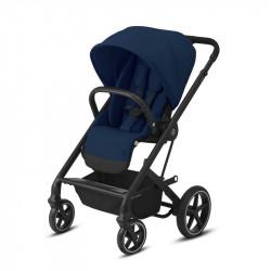 silla balios s lux de cybex chasis negro color navy blue