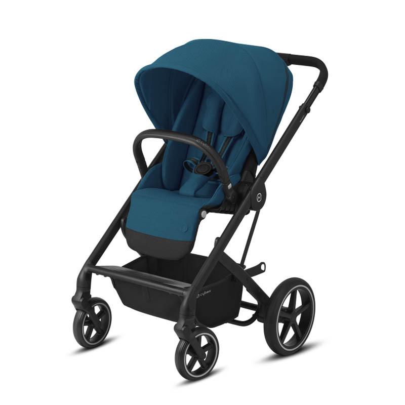silla balios s lux de cybex chasis negro color river blue