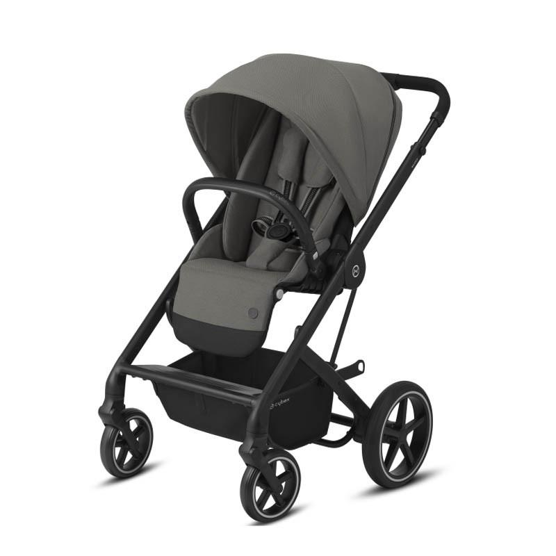 silla balios s lux de cybex chasis negro color soho grey
