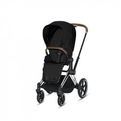 silla de paseo priam de cybex en el color stardust con el chasis chrome brown