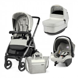 trio peg perego book 51 s con capazo pop up primoviaggio sl y bolso en el color luxe pure