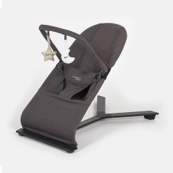 hamaca ergonomica para bebes flex bouncer de mast en el color dark grey