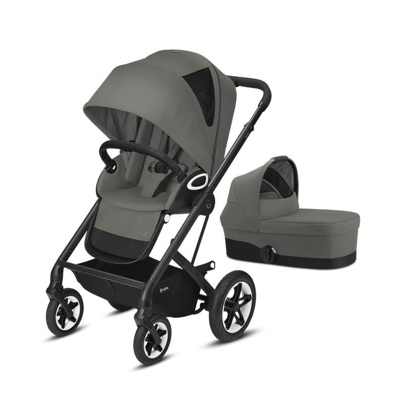 cochecito cybex talos s lux chasis negro en el color soho grey