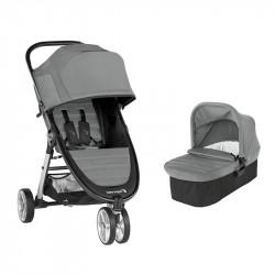 city mini 2 con tres ruedas de baby jogger en el color slate