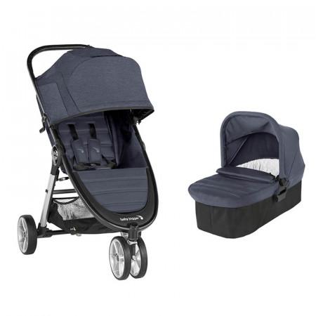 city mini 2 con tres ruedas de baby jogger en el color carbon