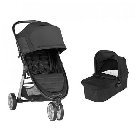 city mini 2 con tres ruedas de baby jogger en el color jet