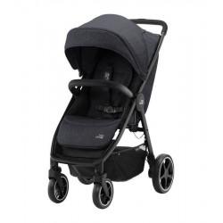 silla de paseo b agile r de britax romer en el color black shadow con manillar negro