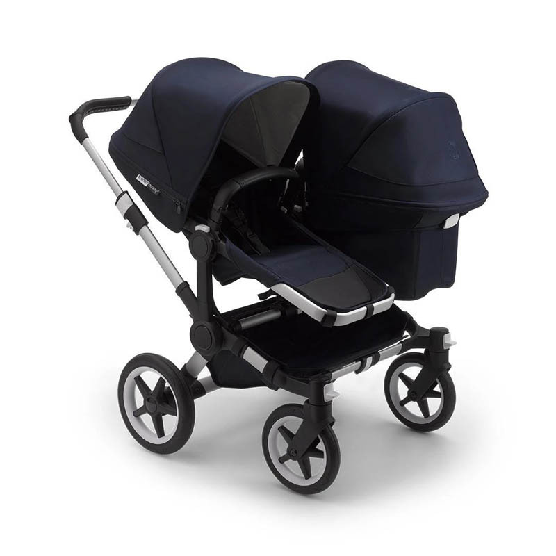 cohecito gemelar donkey 3 duo classic collection navy blue