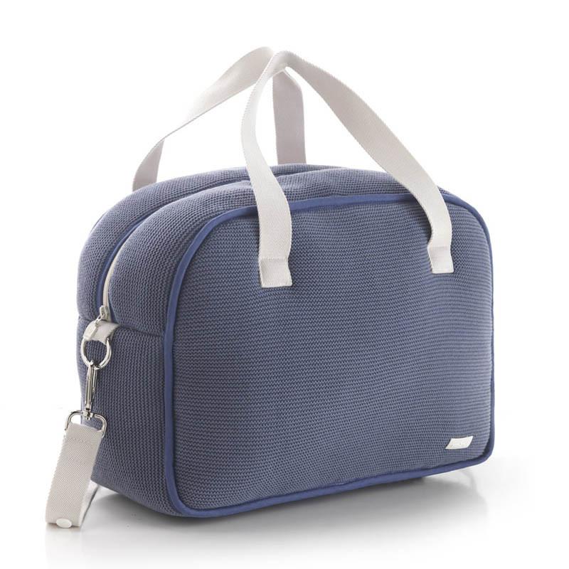 bolso maternidad london de cambrass en color azul